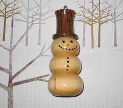 lathe made ornaments lathe ornaments snowman with hat