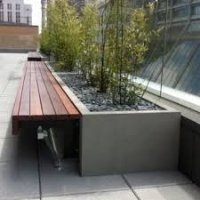 Ipe Bench Fiberglass Custom Planter Bench Streetscapes