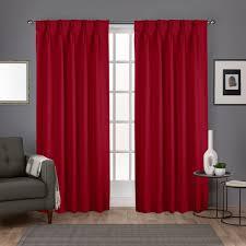 Ruffle Bottom Blackout Panel by Sateen Pinch Pleat Woven Blackout Back Tab Window Curtain Panel