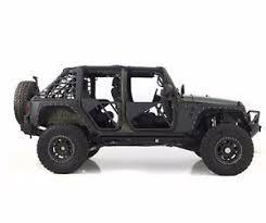 white 4 door jeep wrangler smittybilt src trail doors 2007 2017 with mirrors 4 door jeep