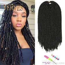 best hair for faux locs 18 inch faux locs crochet hair 130g 24 roots piece dreadlocks