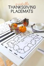 kids thanksgiving coloring placemats thanksgiving holidays