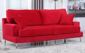coolest vibrant red velvet sofa also red leather sofa decorating
