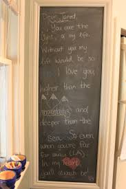 Chalkboard Home Decor by Chalkboard Wall Baking Life By The Horns