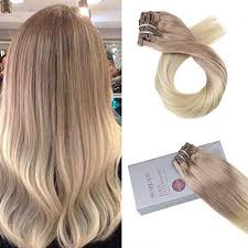 buy hair extensions buy real clip in omber balayage human hair extension at moresoo