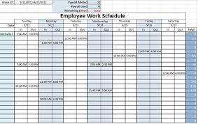 Excel Employee Schedule Template Work Schedule Templates Free Downloads Links