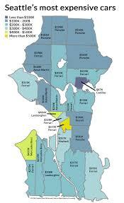 Seattle Washington Zip Code Map by Seattle U0027s Priciest Cars By Neighborhood And The Subaru Myth Kuow