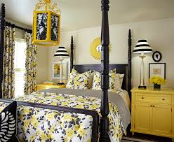 Curtains For Yellow Bedroom by Black And White And Yellow Bedroom Interior Design