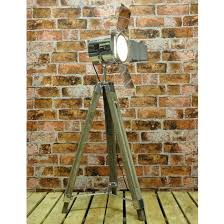 Spotlight Floor Lamp Wood And Chrome Tripod Spotlight Floor Lamp Wowpieces
