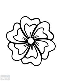 simple flower flower template free printable drawings of flowers