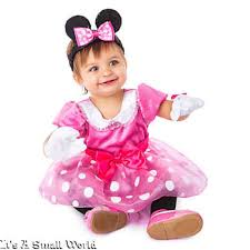 disney store minnie mouse pink baby costume gloves ear headband 6
