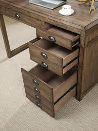 office desk in weathered taupe by coaster w file drawer
