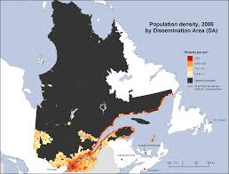 Population Map Of Canada by Population Density Map Of Canada Canada Map This Is How Empty