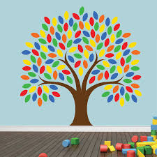 playroom wall decor roselawnlutheran large 48u0027u0027 colorful clever tree wall decal vinyl wall art stickers for kids baby room nursery