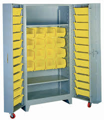 lyon all welded storage cabinets with bins bin storage cabinets