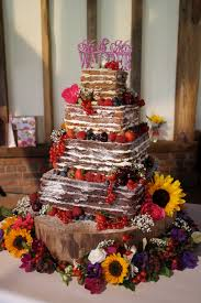sylvia u0027s kitchen beki four tier u201cnaked u201d style square wedding