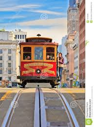 San Francisco Cable Cars Map by Cable Car In San Francisco Editorial Image Image 18740000
