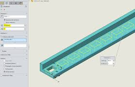 solidworks linear pattern solidworks instances to vary computer aided technology