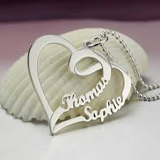 personalized heart pendant aliexpress buy s name necklace personalized heart