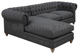 Chesterfield Sofa Linen by Oxford Grey Linen Sectional Sofa Sectional Sofas Tov S36 Sec L 3