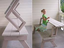 Diy Collapsible Picnic Table by Best 25 Foldable Picnic Table Ideas On Pinterest Diy Picnic