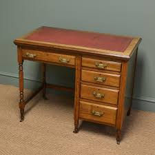 Small Cherry Writing Desk by Quality Small Edwardian Walnut Antique Writing Desk Antiques World