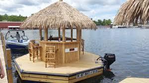 Tiki Hut On Water Vacation Tiki Hut Boats Turning Heads On Winnipesaukee