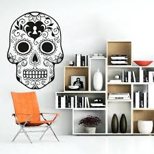 wall ideas mexican sugar skull wall art stickers home decoration
