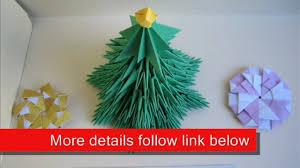 3d origami christmas tree christmas lights decoration