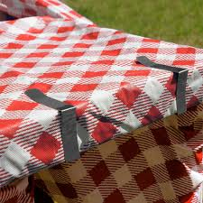 Patio Dining Set Cover - outdoor dining table cloth clips set of 6