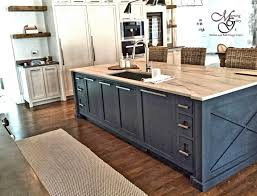 Distressed Island Kitchen by Custom Painted Inset Shaker Craftsman Cabinet Island Barnwood Bar