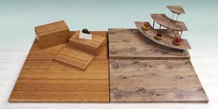 elite global solutions faux wood risers add visual artistry to