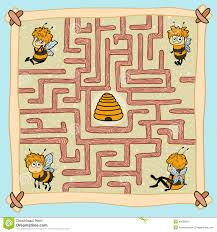 Home Design Game Help by Maze Game Help One Of The Bees Find Their Way Home Stock Vector