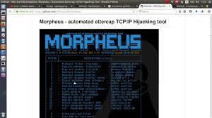 ettercap kali linux tutorial pdf how to install morpheus on ubuntu kali linux youtube
