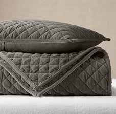 Grey Quilted Comforter Quilts U0026 Coverlets Rh