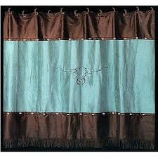 Turquoise And Brown Curtains Brown And Teal Shower Curtain House Design