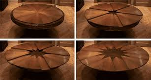 expandable round dining table the great expanding round dining table homesfeed