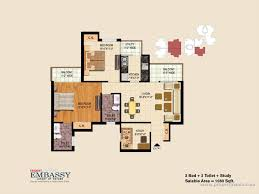 Embassy Floor Plan by 3 Bedroom Apartment Flat For Sale In Trident Embassy Noida
