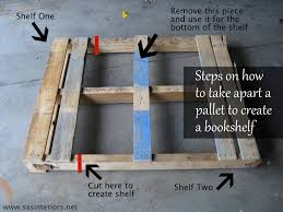 Wooden Shelves Making by How To Make A Pallet Shelf Diy Shelf Pallet Shelves Diy Pallet
