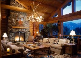 log cabin living rooms and great rooms north american log crafters