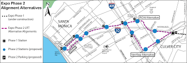 Map Of Santa Monica Final Plan For Expo Line From Culver City To Santa Monica Released