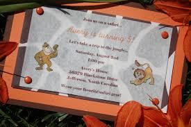 Jungle Theme Invitation Card Homemade Birthday Invitations Dancemomsinfo Com