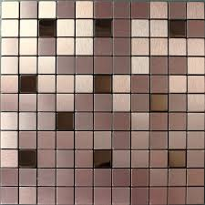 Metal Kitchen Backsplash Tiles Tile Mosaic Stickers Brushed Interior Aluminum Wall Panels Metal