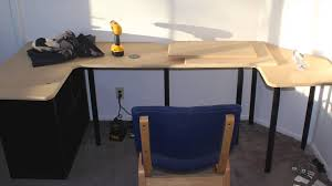 Sit Stand Desk Attachment by Diy Sit Stand Desk Youtube