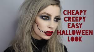 Scary Halloween Looks Cheapy Creepy Super Quick U0026 Easy Drugstore Halloween Makeup Look