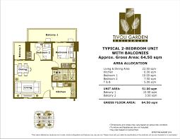 orange grove residences floor plan tivoli garden residences dmci homes property finder
