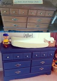 Blue Changing Table Dresser Changing Tables Farm Fresh Vintage Finds