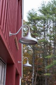 Galvanized Outdoor Light Fixtures Classic Barn Lighting For A Modern Farmhouse Home In Maine