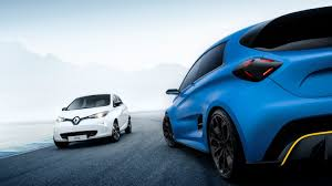 renault blue geneva motor show 2017 awd all electric renault zoe with 3 0 sec
