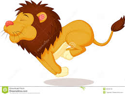 lion cartoon running royalty free stock photos image 34230728